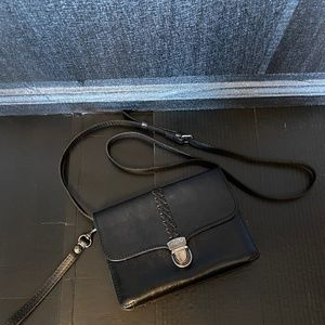 Patricia Nash Black Leather Bianco Crossbody Organ